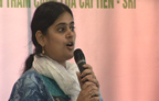 Abha Mishra at the IRC 2010 SRI Day in Hanoi
