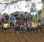 EARTH students at the SICA plot - 2012